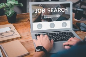 Job Search Concept, Find Your Career, Man Looking At Online Webs