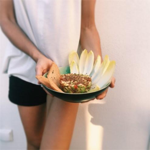 Inês simas, cru com pinta, tártaro de abacate, guacamole, tártaro de Guacamole, receita cruas