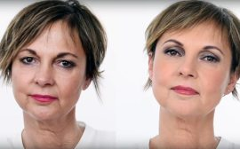 Cruelty-free makeup for women over 50 - Before and After