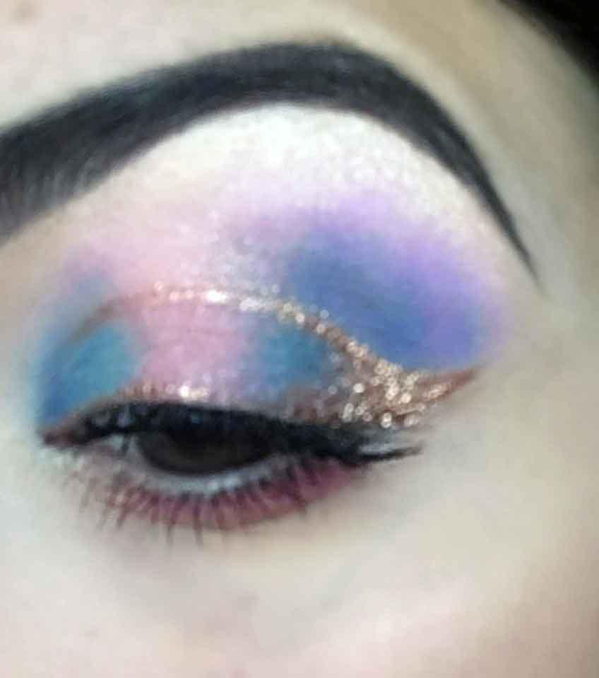 Halo Eye Makeup Look - Close up