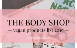 The Body Shop Vegan List 2019