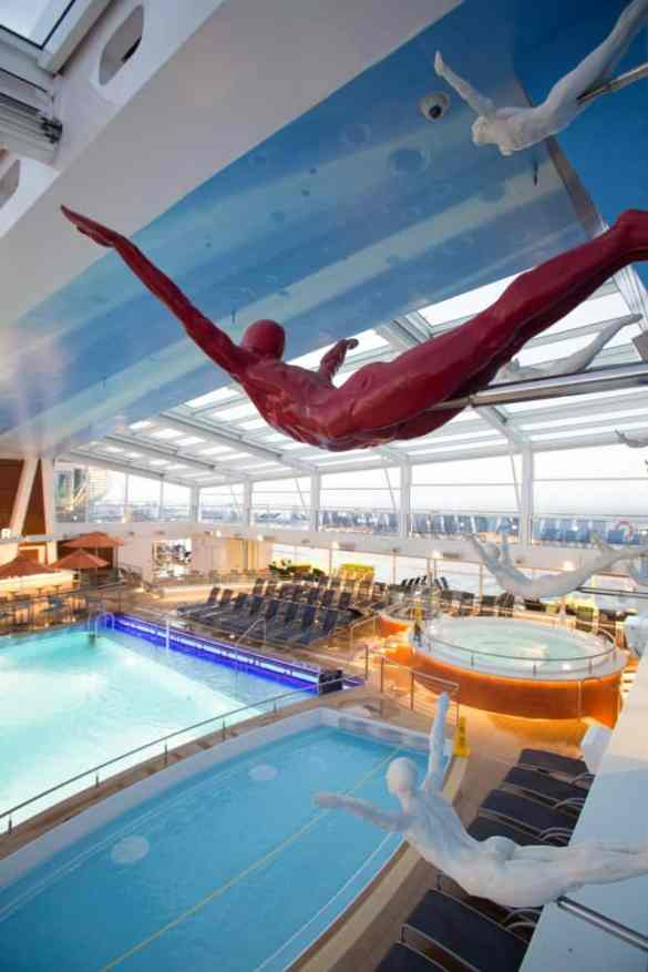 Royal Caribbean International launches Quantum of the Seas, the newest ship in the fleet, in November 2014.