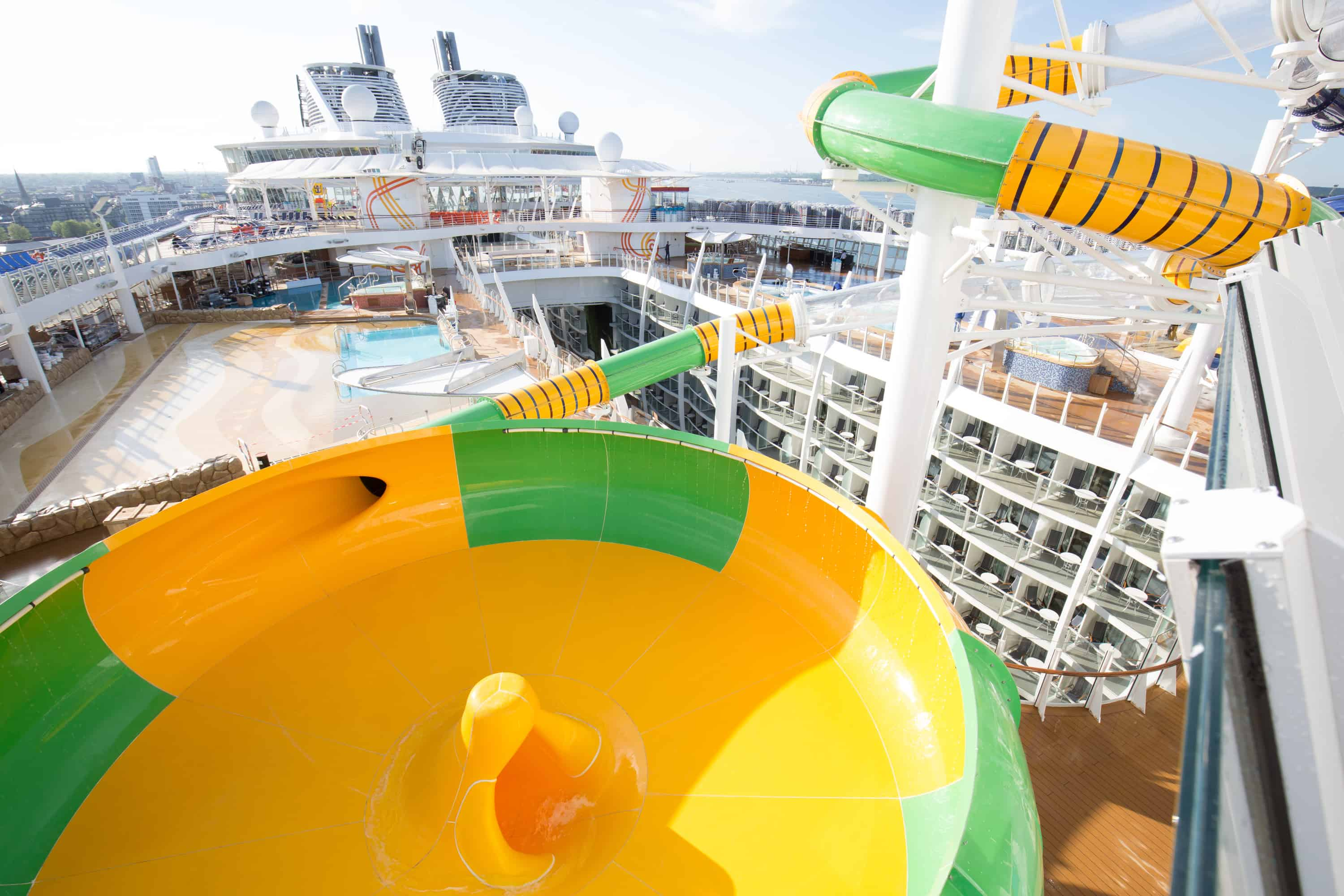 """Royal Caribbean International's Harmony of the Seas, the world""""s largest and newest cruise ship, previews in Southampton. The Perfect Storm"""