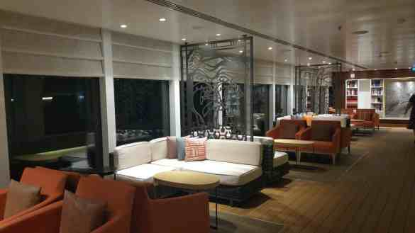 The Lanai at night aboard Viking Star.