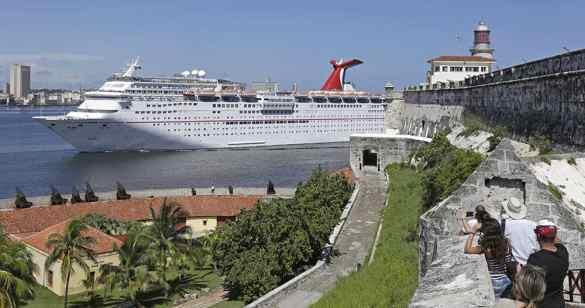 The Carnival Paradise passes the historic El Morro Castle in Havana, Cuba. (Sven Creutzmann/Carnival Cruise Line)