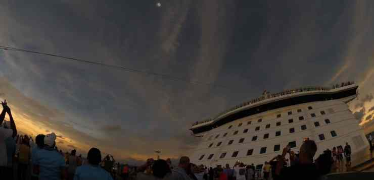 Watching A Total Eclipse While Aboard A Cruise Ship