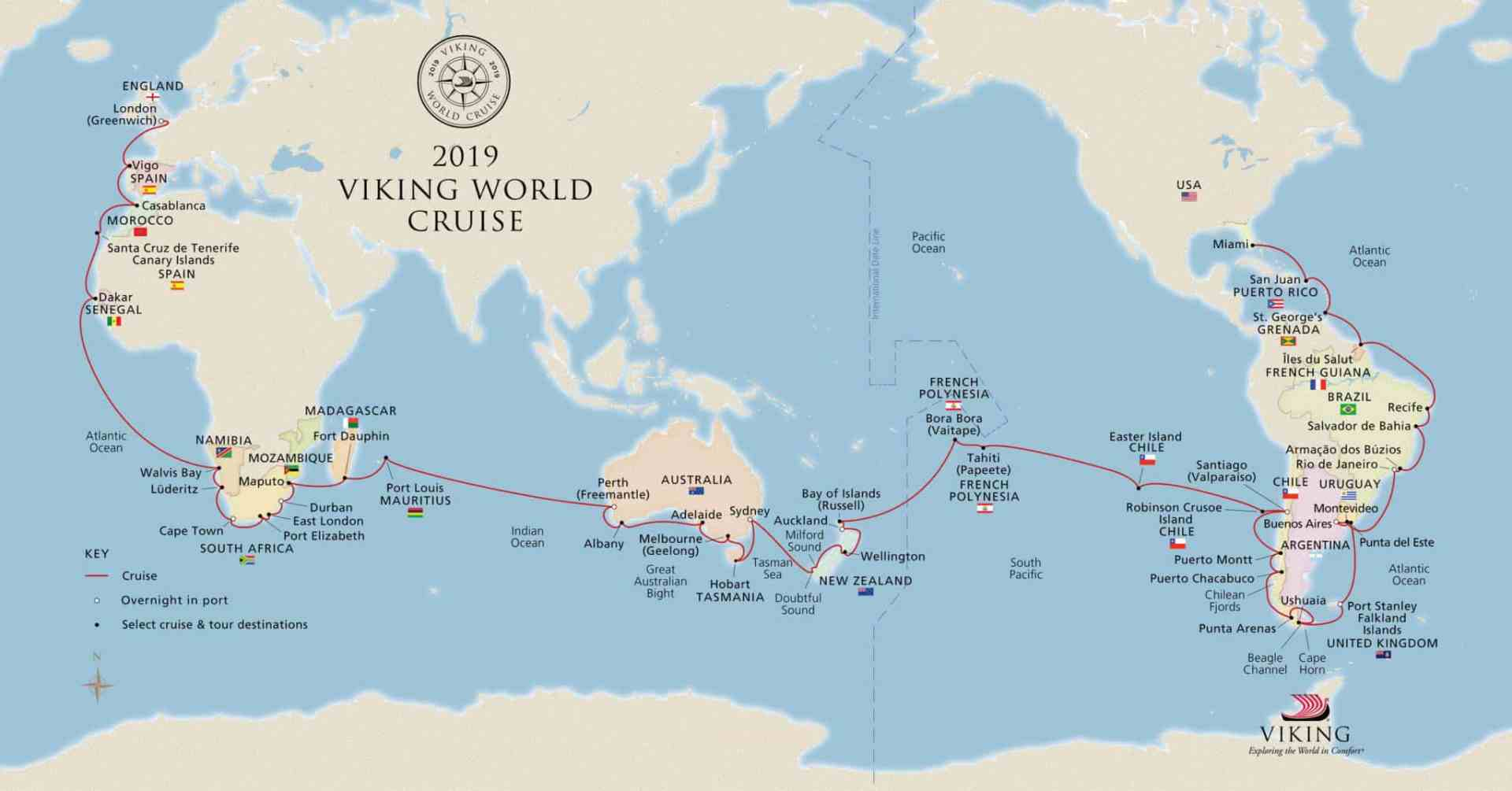 Viking Cruises Announces Second World Cruise For Fourth Ship