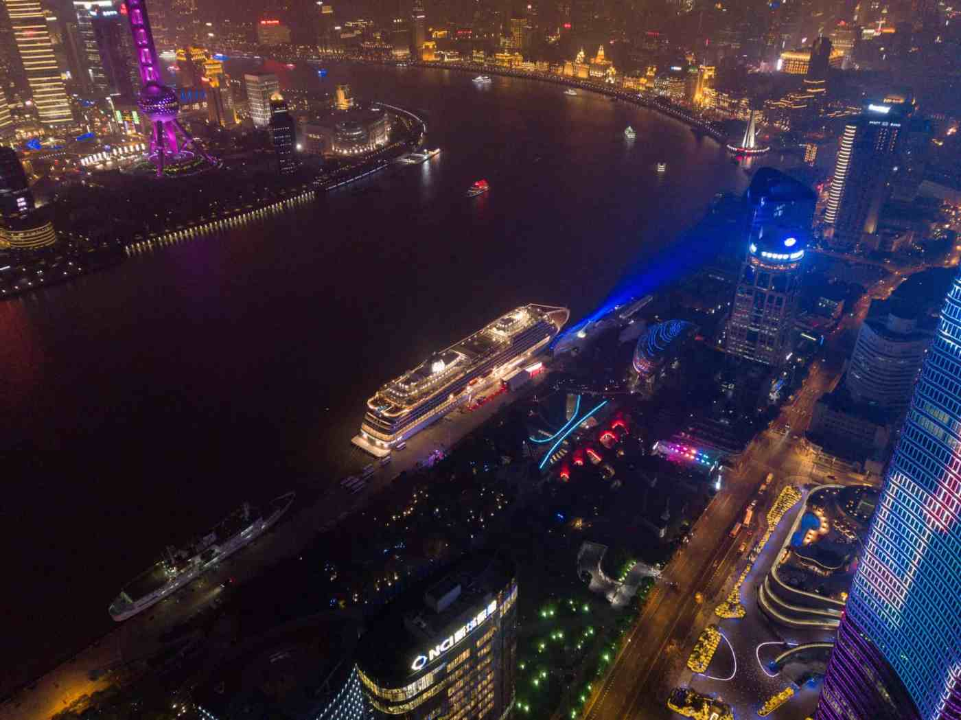 Viking Sun®, was officially named during a spectacular celebration on The Bund, in the heart of Shanghai.