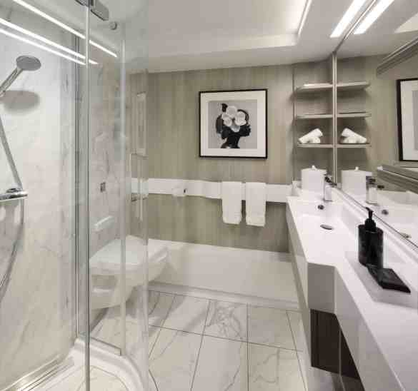Stateroom Bathroom aboard Celebrity EDGE