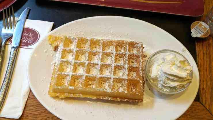 Waffle in Antwerp, Belgium
