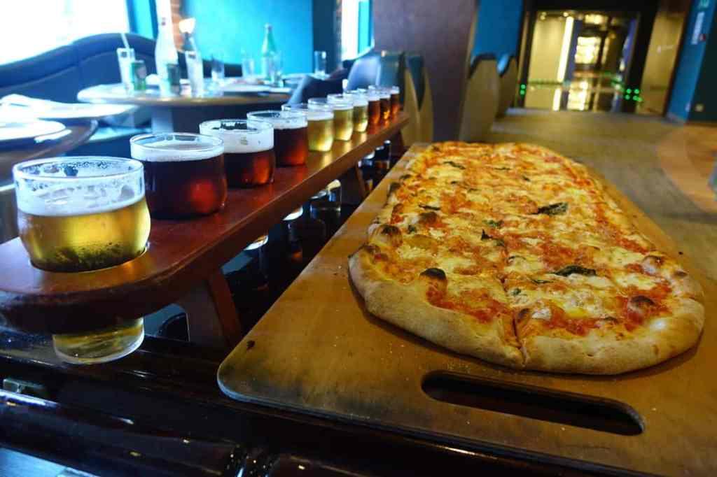 Meter of beer and meter of pizza on MSC Divina