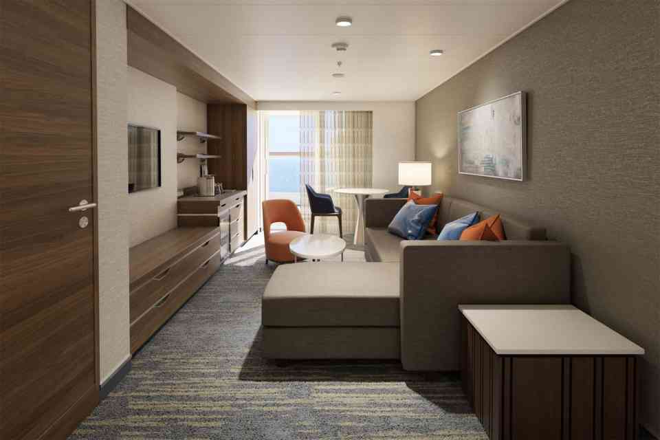 Carnival Excel Aft Suite - Living Balcony