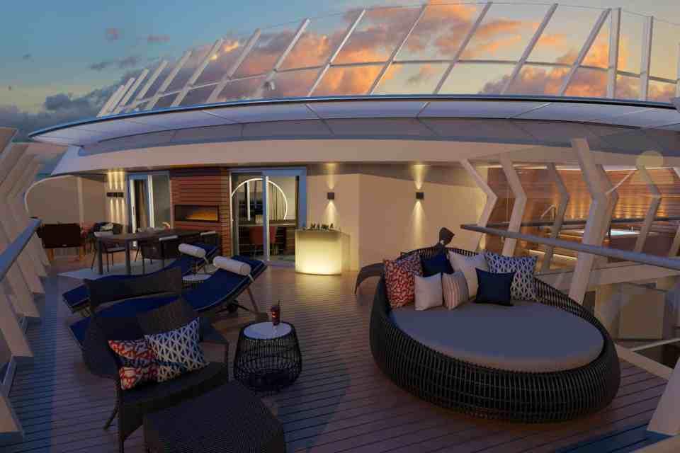 Carnival Excel Presidential Suite Balcony