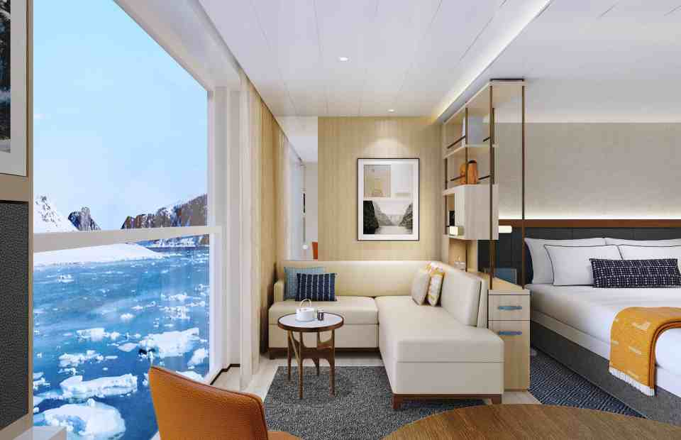 Rendering of the Viking Expedition  ship: Penthouse Junior Suite - Polar Option (Credit: Viking)