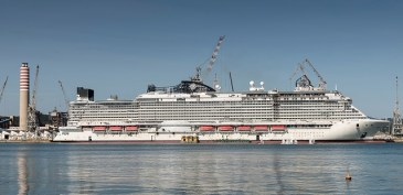 msc seaside is entering its final phase of construction 4 months before its christening in miami on december 21st, 2017