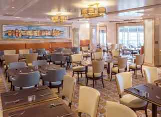 this is cunard's version of a 'casual buffet' - while the surroundings are still upmarket, passengers can dress as they like.