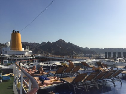 cruise lines must transit the strait of hormuz on every roundtrip dubai itinerary with muscat as a port call