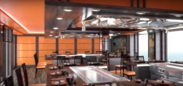 msc bellissima teppanyaki restaurant