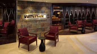 vintages, the former champagne bar aboard jewel of the seas.