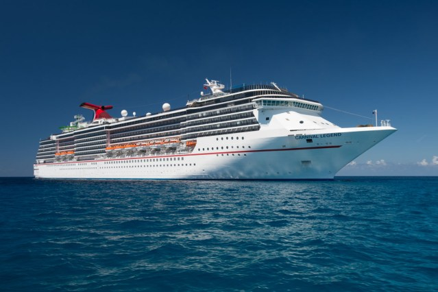 carnival legend (pictured) and carnival paradise are being deployed to assist evacuation efforts following st vincent volcano red alert.