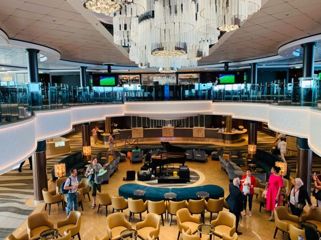 atrium lobby aboard norwegian jade