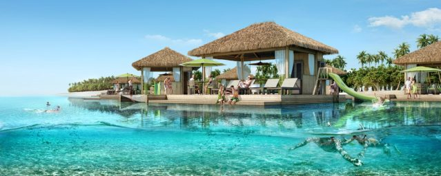 perfect day coco beach floating cabanas hero