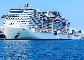 msc bellissima at the abu dhabi cruise terminal