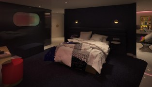 posh suite nighttime
