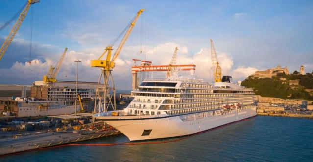 viking venus was presented to the cruise line by shipyard fincantieri