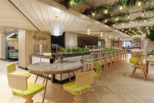 the garden kitchen at indulge food hall on norwegian prima