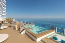 infinity pools at infinity beach on the ocean boulevard