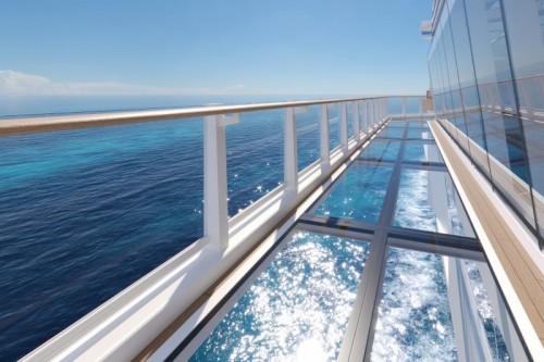 glass walkways aboard norwegian prima