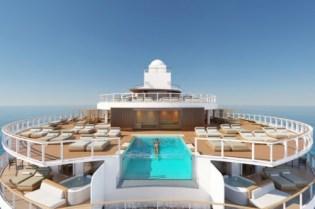 aft facing infinity pool in the haven aboard norwegian prima