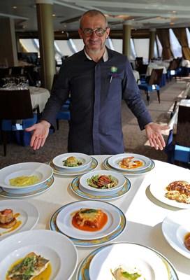 oceania chef franck garanger with toscana dishes