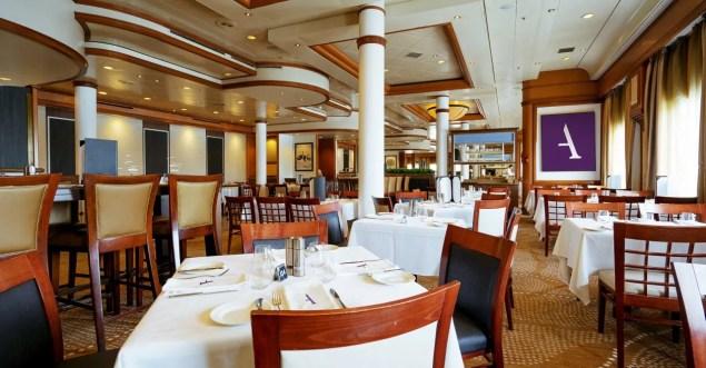 buffet restaurant aboard ambiance