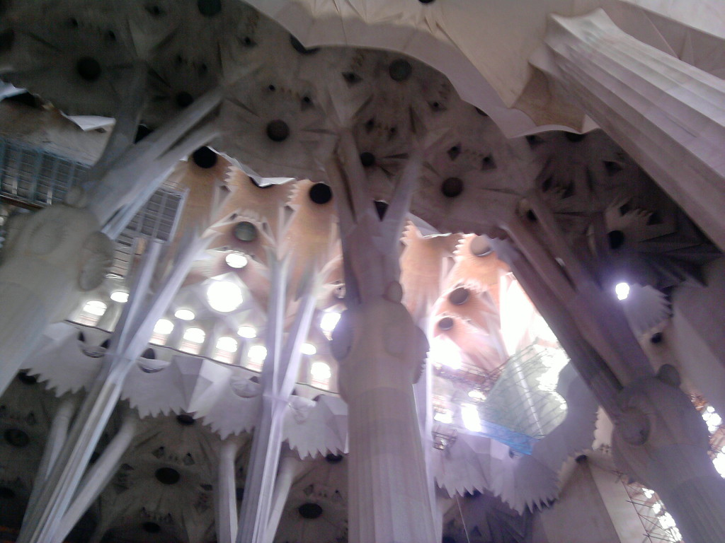 Sagrada Familia Innen Decke