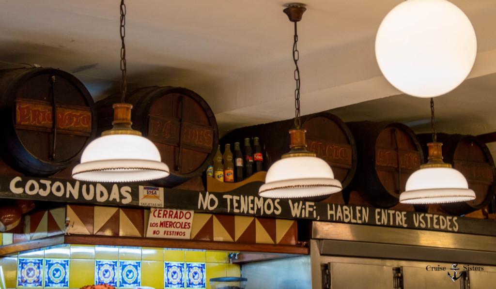 Kein Wlan in der Tapasbar La Bombeta