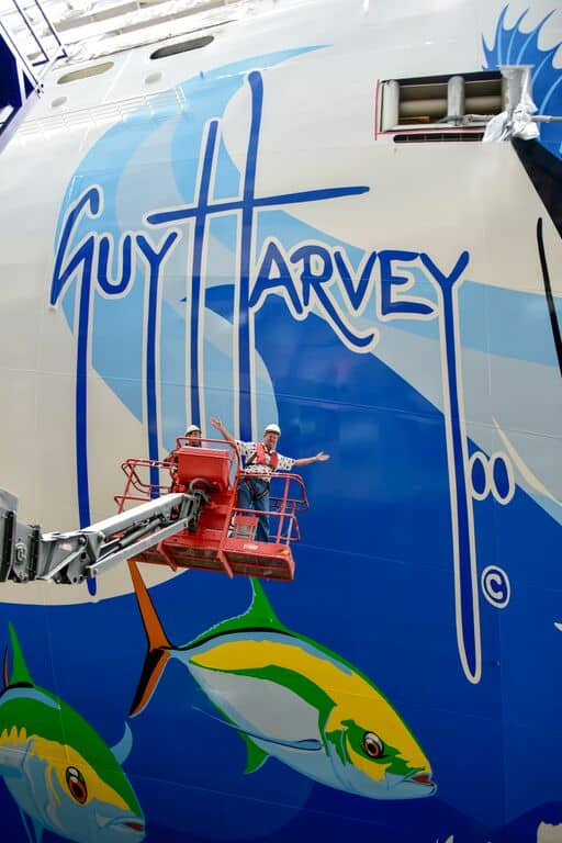 Guy Harvey Hull Art aboard Norwegian Escape