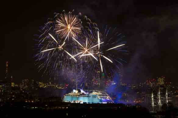 """Viking Cruises christens its second of six planned ocean ships in Greenwich"""" in London, Britain May 5, 2016"""