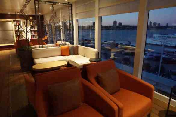 The Lanai at night aboard Viking Star