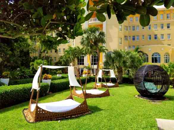 Day Beds at the British Colonial Hilton - Nassau, Bahamas