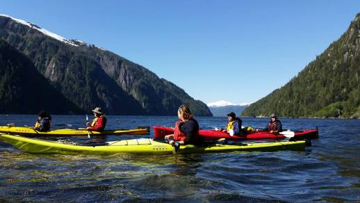 UnCruise Adventures kayaking in Alaska