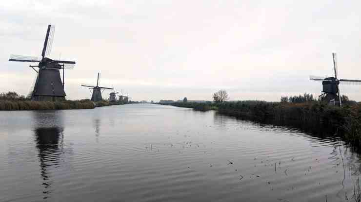 The windmills at Kinderdijk, the Netherlands.