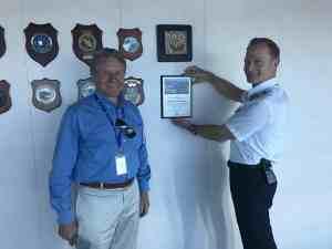 Symphony of the Seas, Port Canaveral plaque presentation