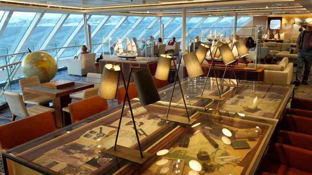 The Explorers' Lounge on Viking Sky