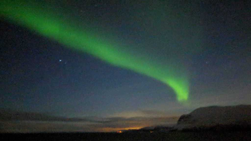 Northern lights while sailing on Viking Sky