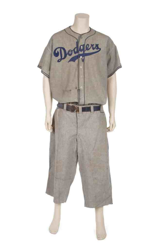 Baseball Legend Babe Ruth's Brooklyn Dodgers Uniform, worn by Ruth during the 1938 season.