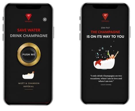 """Virgin Voyages Unveils """"Shake For Champagne"""" Delivery Service"""