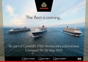 Live footage of Cunard's #3Queens in Liverpool (Recorded)