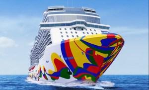 Norwegian Cruise Line Reveals Hull Art on New Cruise Ship